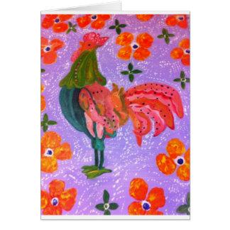 chook del flower power tarjeta de felicitación
