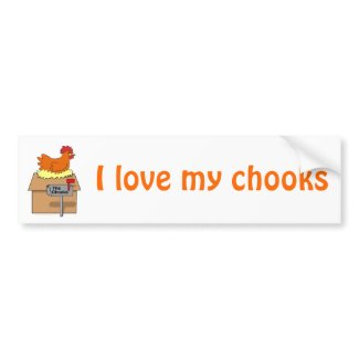 Chook House Funny Chicken on House Cartoon bumpersticker
