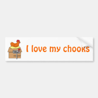 Chook House Funny Chicken on House Cartoon Bumper Sticker