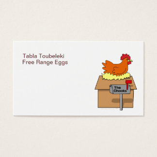 Chook House Funny Chicken on House Cartoon Business Card