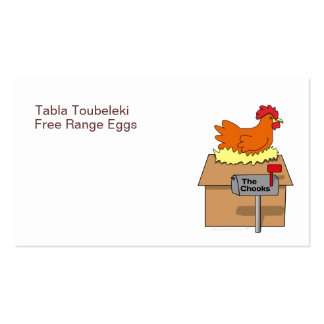 Chook House Funny Chicken on House Cartoon Business Cards