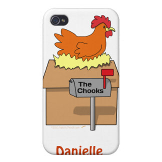 Chook House Funny Chicken on House Cartoon iPhone 4/4S Case
