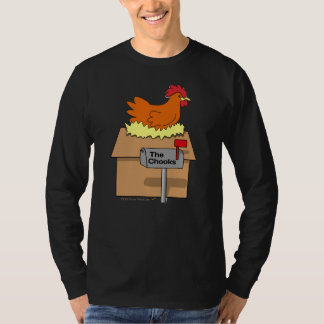 Chook House Funny Chicken on House Cartoon T-Shirt