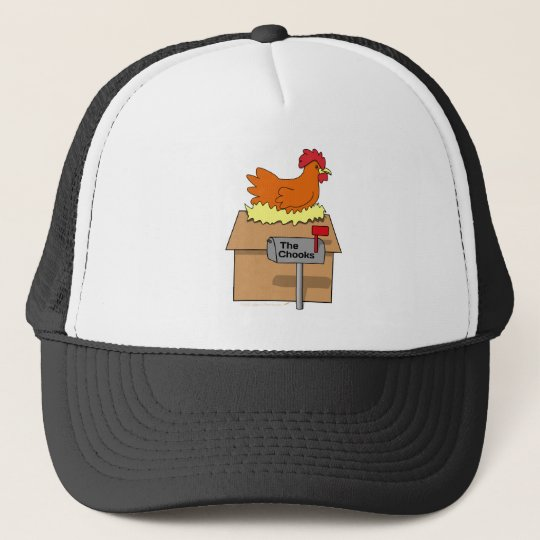 Chook House Funny Chicken on House Cartoon Trucker Hat