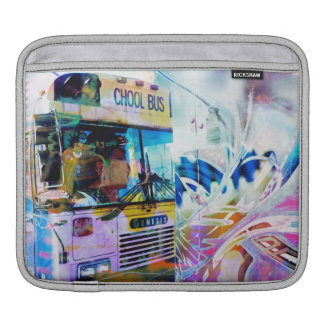 Chool School bus San Francisco streets graffiti Sleeve For iPads