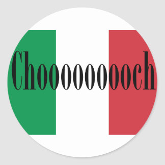 Chooooooch Products Available Here! Classic Round Sticker