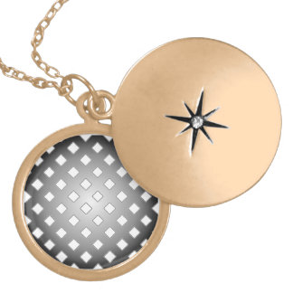 Choose A Color Black Checks Abstract Gold Plated Necklace