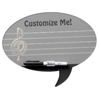 Choose a Color Embossed Look Treble Clef and Hear Dry-Erase Board