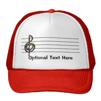 Choose a Color Embossed Look Treble Clef and Hear Trucker Hat