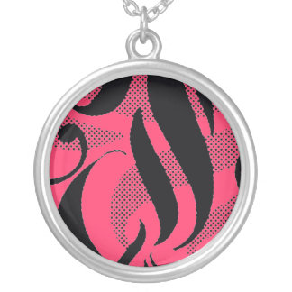 Choose a Color Necklace! Aloha Swirl design Silver Plated Necklace