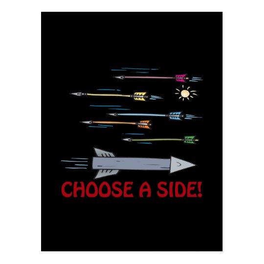 Choose A Side Postcard