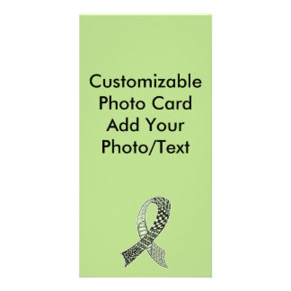 Choose Any Color Cancer Disease Awareness Ribbon Card