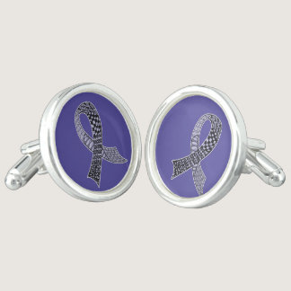 Choose Any Color Cancer Disease Awareness Ribbon Cufflinks