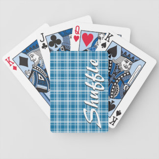 Choose Any Color Cozy Plaid Playing Cards