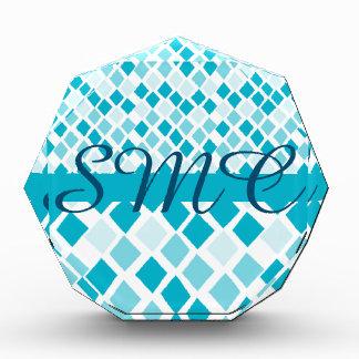 Choose Any Color Harlequin Diamonds Pattern Acrylic Award