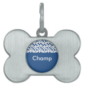 Choose Any Color Harlequin Diamonds Pattern Pet Tag