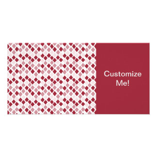 Choose Any Color Harlequin Diamonds Pattern Photo Greeting Card