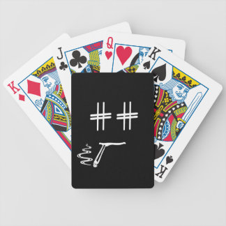 CHOOSE ANY COLOR # Hashtag Dude Smiley Face Bicycle Playing Cards