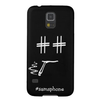CHOOSE ANY COLOR #Hashtag Dude Smiley Personalized Case For Galaxy S5