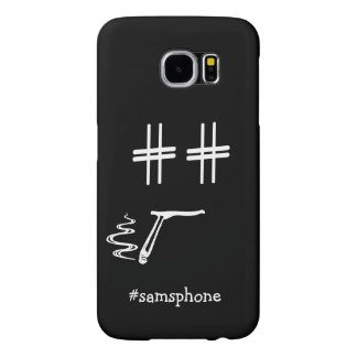 CHOOSE ANY COLOR #Hashtag Dude Smiley Personalized Samsung Galaxy S6 Case