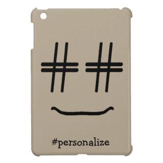 CHOOSE ANY COLOR # Hashtag Smiley Face Cute iPad Mini Cover