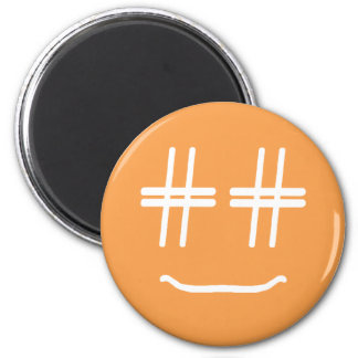 CHOOSE ANY COLOR # Hashtag Smiley Face Cute Magnet