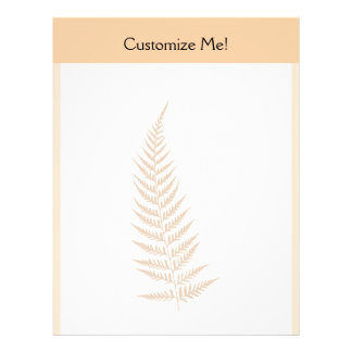 Choose Any Color Pressed Fern Leaf Letterhead