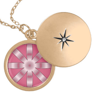 Choose Any Color Repeated Star Pattern Locket Necklace