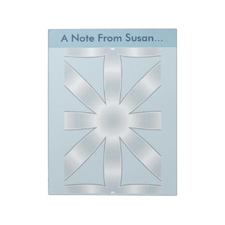 Choose Any Color Repeated Star Pattern Notepad
