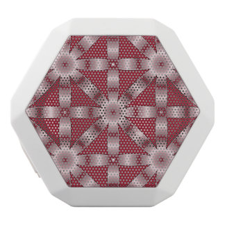 Choose Any Color Repeated Star Pattern White Bluetooth Speaker