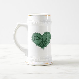 Choose Any Color Spiky Edgy Fire Love Heart Beer Stein