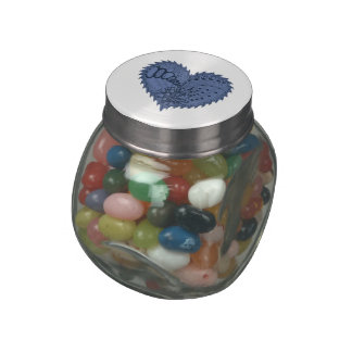 Choose Any Color Spiky Edgy Fire Love Heart Glass Jars