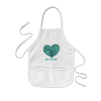Choose Any Color Spiky Edgy Fire Love Heart Kids' Apron