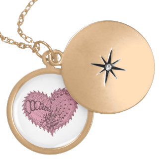Choose Any Color Spiky Edgy Fire Love Heart Locket Necklace