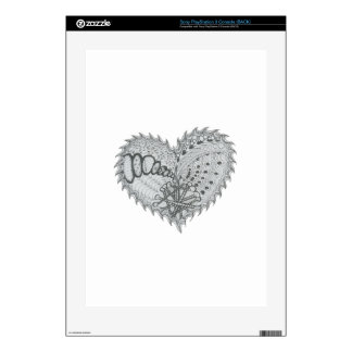 Choose Any Color Spiky Edgy Fire Love Heart Skin For The PS3 Console