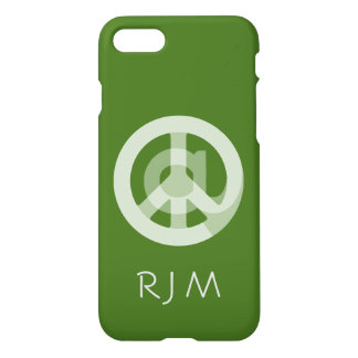 CHOOSE ANY CUSTOM COLOR @ Peace Sign Social Media iPhone 8/7 Case