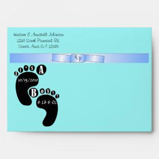 Choose Background Blue Bow - It s A Boy Envelope
