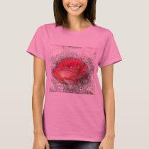 Choose Background Fuzzy Rose T-Shirt