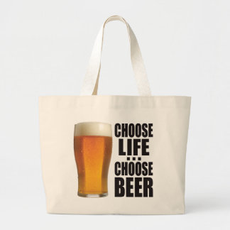 Choose Beer. Large Tote Bag
