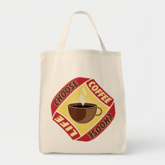 Choose Coffee, Choose Life Grocery Tote Bag