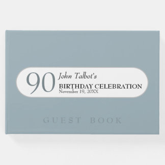 Choose Color 90th birthday Celebration Guest Book