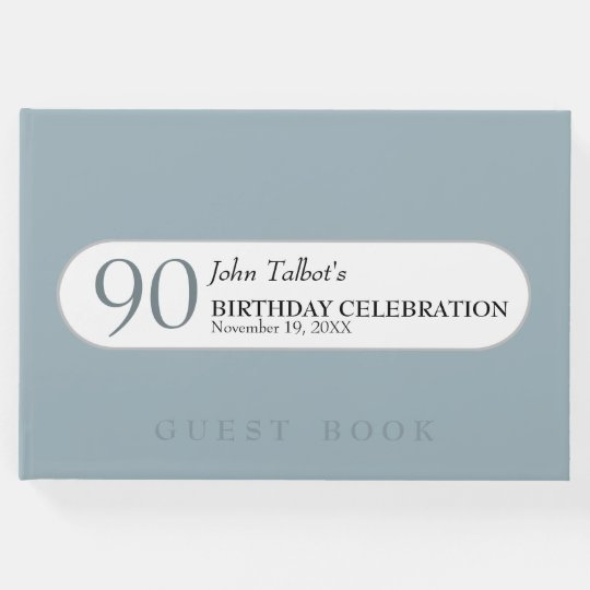 Choose Color 90th birthday Celebration Guest Book Zazzlecom