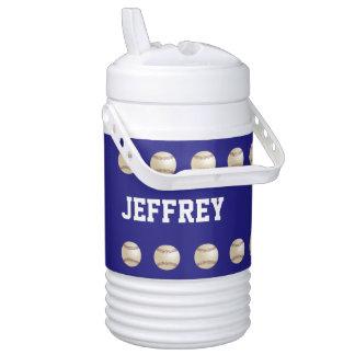CHOOSE COLOR Beverage Cooler, Baseball, Blue Cooler