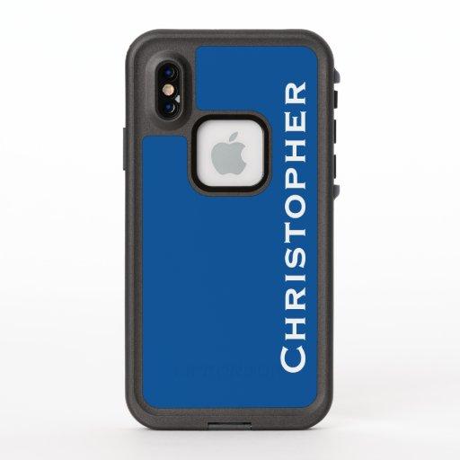 Choose Color iPhone XS Lifeproof Fre Blue Case