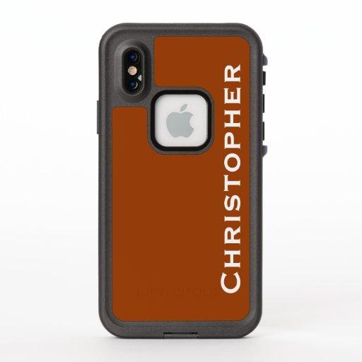 Choose Color iPhone XS Lifeproof Fre Orange Case