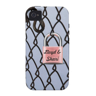 Choose Color of Love Padlock iPhone 4 Case