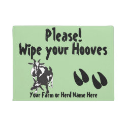 CHOOSE COLOR Pygmy Goats Wipe your Hooves Doormat