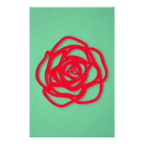 Choose Color Rose on Green Stationery