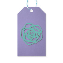 Choose Color Rose on Purple Gift Tags
