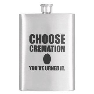 Choose Cremation You Urned It Flask
